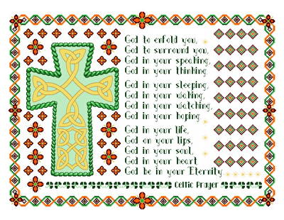 cross stitch pattern Celtic Prayer Cross