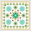 cross stitch pattern Square Daisy Design