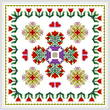 cross stitch pattern Square Tulip Design