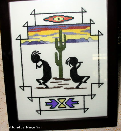 cross stitch pattern Kokopelli