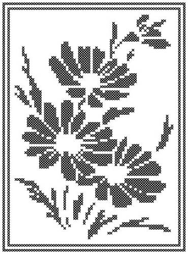 Daisy Silhouette Cross Stitch Pattern Silhouettes