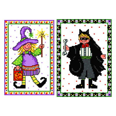 cross stitch pattern Trick or Treat Kids