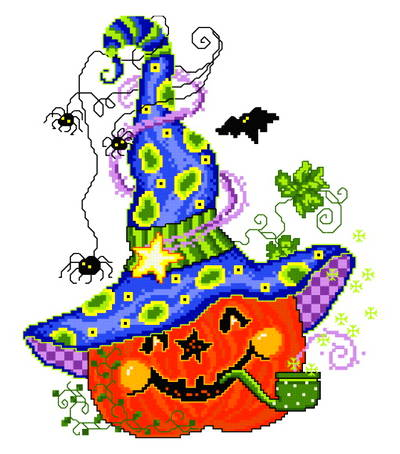 Small Halloween Cross Stitch Patterns Cross Stitch Pattern Pumpkin