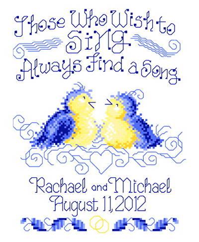 Find A Song Wedding Cross Stitch Pattern wedding