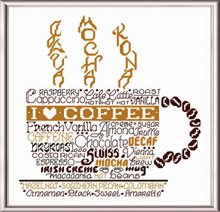 cross stitch pattern Let's do Coffee