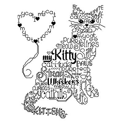 cross stitch pattern Let's Purr