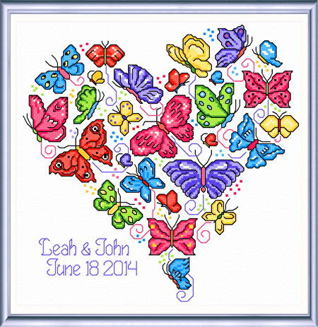 cross stitch pattern Once Upon a Butterfly