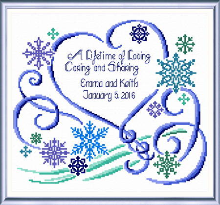 Winter Wedding Cross Stitch Pattern Wedding