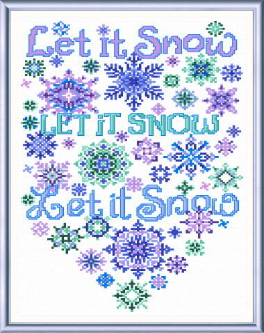 cross stitch pattern Let it Snow Flakes