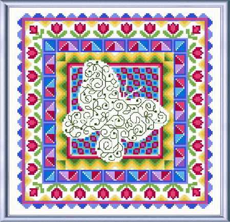 cross stitch pattern Spring Butterfly Quilt
