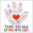 cross stitch pattern Let's Hug a Teacher