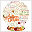 cross stitch pattern Let's Breeze into Autumn