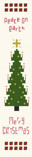 cross stitch pattern Christmas Tree Bookmark