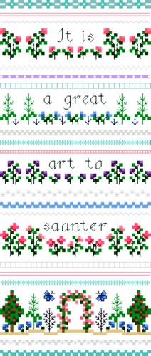 cross stitch pattern Saunter