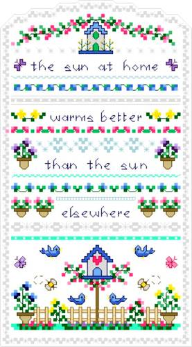 cross stitch pattern Sun at Home