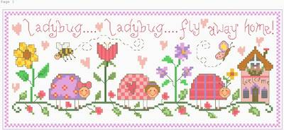 cross stitch pattern Ladybug!