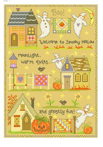 cross stitch pattern Spooky Hollow Quilts
