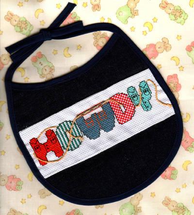 Howdy Bib Cross Stitch Pattern Baby
