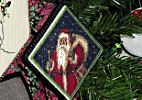 cross stitch St Nick